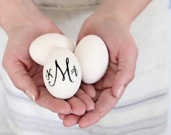 Ceramic Easter Egg . personalized eggs . personalized easter eggs ceramic . hand lettered easter egg ornament . hand lettering