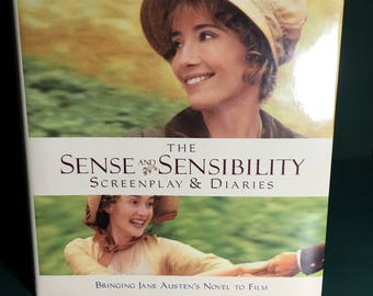 Emma Thompson, The Scense and Sensibility ScreenPlay and Diaries, Hardcover Book, Bringing Jane Austen's Novel To Film,