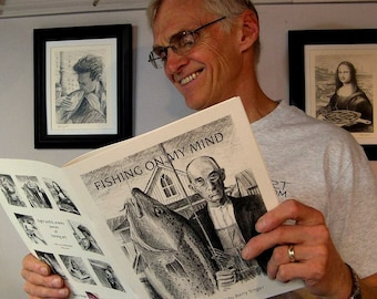 SALE...Fine Art Fish Book... Pencil Puns and Parody a great gift for the Fisherman or Art Lover