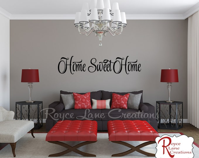 Home Sweet Home Decal #8 - Home Sweet Home Wall Decal - Foyer Decor - Home Sweet Home Decals - Home Sweet Home Wall Decals