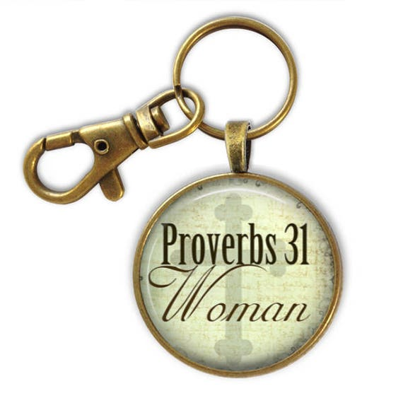 Catholic Keychain Gift - Religious gift for her - Proverbs 31 Woman