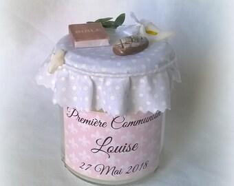 Cadeau Première Communion Bougie personnalisable