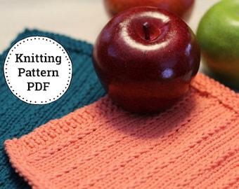 KNITTING PATTERN-Fields and Furrows, Dishcloth Pattern