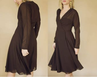 Vintage 1960's Dark Chocolate Lillie Rubin Dress