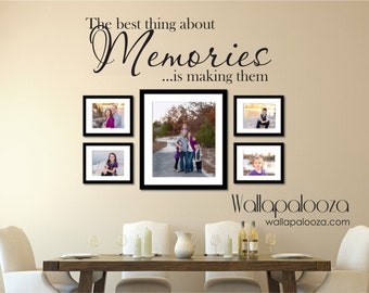 Family wall decal - Memories Wall Decal - Family decal - Family Room Decal - Picture wall decal - memories - Family room decor - wall art