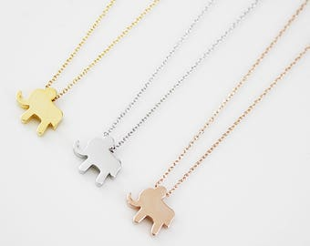 Elephant Necklace Dainty and Delicate Necklace Elephant Pendant Necklace Birthday Gift