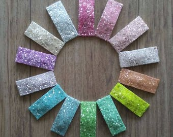 3 Glitter Snap Clips