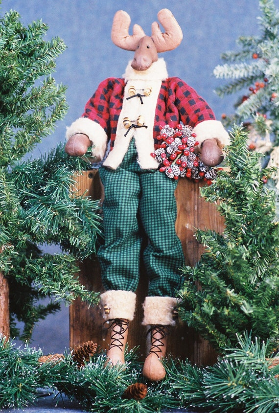 Jack - Cloth Doll E-Pattern 23in Holiday Boy Moose E-pattern