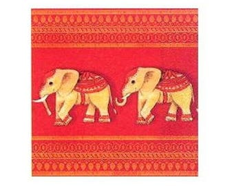 Napkin decor elephants
