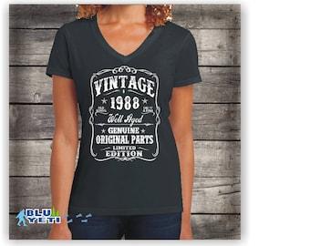 Her 30th Birthday shirt ,Womens  1988  birthday shirt, 30th birthday for her,1988 birthday gift,vintage 1988,Gift for,super soft her , 30th