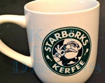 Starborks Swedish Chef Muppets Coffee Cup