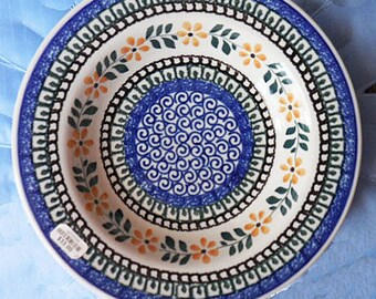Polish Pottery Soup Bowl Ceramika Artystyczna Initialed Piece. Beautifully designed dinnerware you will enjoy & Polish dinnerware | Etsy