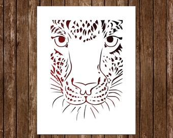 Lynx Paper Cutting Template, Wild Cat Papercut, Lynx Cut Out, Cat ...