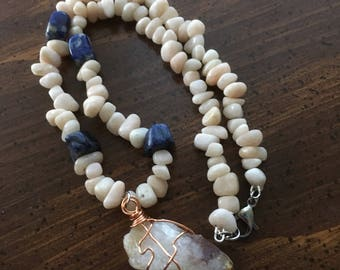 Citrine, Sunstone, and Sodalite Positivity Necklace