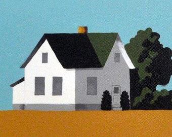 Original Painting -  24 x 24 Inches - Barn Painting - Honey Bee Farm