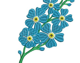 Forget-me-nots Machine Embroidery Designs, instantly download