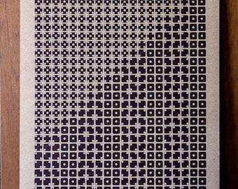 Delta Eridani Letterpress Print on Chipboard