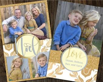 Gold Foil Christmas Cards, Gold Glitter Christmas Cards, Foil Christmas Cards, Glitter Christmas Cards, Photo Christmas Cards, Gold