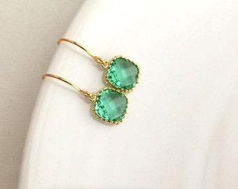 Labor Day Sale 20% OFF Gold Green Earrings. Erinite Earrings. Prasiolite Earrings. Wedding.Bridesmaid Earrings.Bridesmaid Jewelry.Bridesmaid