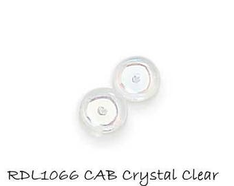 8mm Rondelles Crystal Clear AB color, 30 pcs, 8x3mm Smooth Pressed Czech Glass Rondelles CAB RDL1066 K17