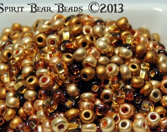 Pirate's Gold  Seed bead Mix 50 grams Loose size 6