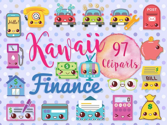 Instant Car Loan >> 97 Cute Finance Clipart: KAWAII MONEY Telephone
