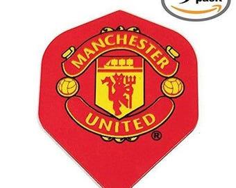 9 Pack Art Attack Manchester United Soccer Football Premier League 75 Micron Strong Dart Flights