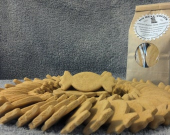 Peanut Butter Wheat and Gluten Free Dog Treats by No Bull Treats Gourmet All Natural YUM