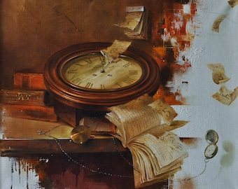 Oil Painting Passing of time Large