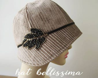 SALE  1920's  Hat Vintage Style hat winter Hats hatbellissima ladies hats millinery hats  cloche Hats