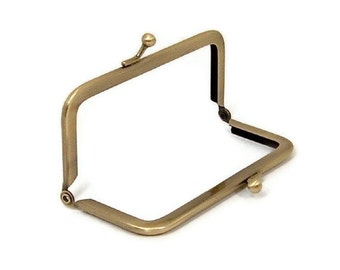 4 X 2 Inch Antique Brass Purse Frame  FREE U.S. SHIPPING