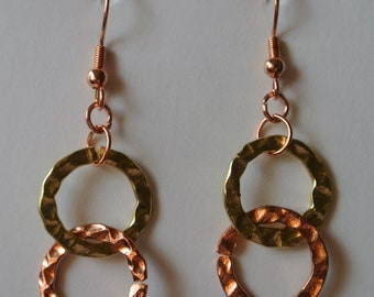 Double Gold and Rose Gold Disc