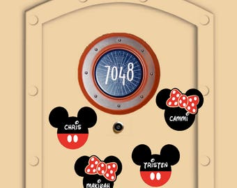 Add-On to Existing order, Not Yet Shipped Little Mickey and Minnie Personal Disney Cruise Magnets