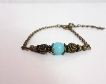 Bronze - 005 blue Boho bracelet