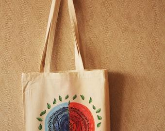 Bag of raw creates illustrated