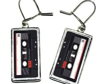 Compact Cassette Earrings - handmade