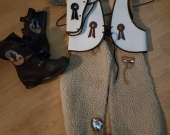 Gene Autry cowboy chaps, vest and boots