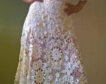 The dress is crocheted. Irish Lace, Irish knitting