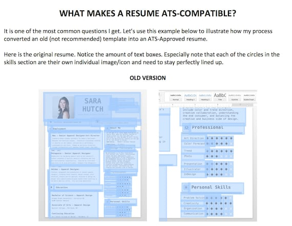 assistance in writing a resume