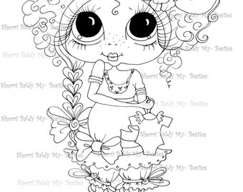 INSTANT DOWNLOAD Digital Digi Stamps Big Eye Big Head Dolls IMG216  My Besties By Sherri Baldy