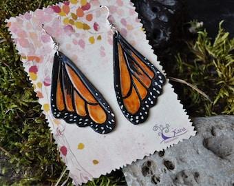 Monarch Butterfly Wings earrings