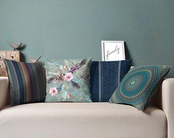 Boho Pillow - 4 Styles - Bohemian Pillow - 16 x 16, 18 x 18, 20 x 20, 24 x 24 inches