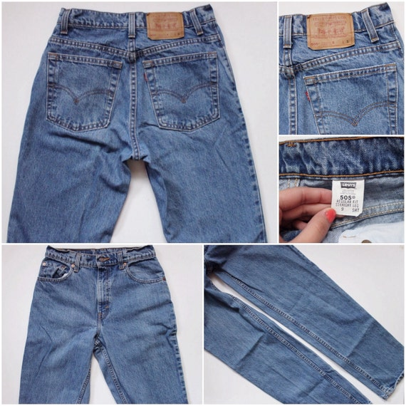 High Levis Medium 27 Jeans Denim Denim Jeans Blue 505 Jeans Vintage Denim Levi's Waist 505 5 7nZqYI8gxw