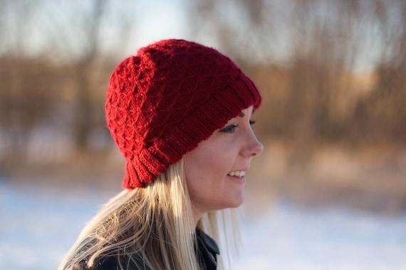 Quilted Lattice Stich Knit Winter Hat