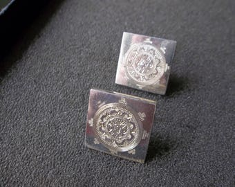 Vintage sterling silver 925 Cuff links from Mexico