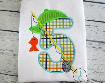 Fishing Birthday Shirt - 1st Birthday, Birthday Shirt, 1st Birthday Boy, Birthday Outfit, Summer Birthday, Fishing Shirt, Birthday Number