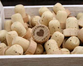Bulk Personalized Wine Stoppers, Wine Stopper Wedding Favors, Engraved Heart Wood Wine Stoppers, Customized Wine Cork, Wine Wedding Gift