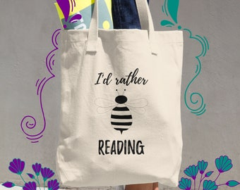 Book Lover Gift for Her, Bookworm Best Friend Gift, Gift for Daughter, Canvas Tote Bag, College Student Gift, Book Bag, Literary Gift