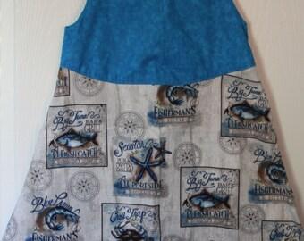 5/6 Seaside Starfish Dress Beautiful Unique OOAK