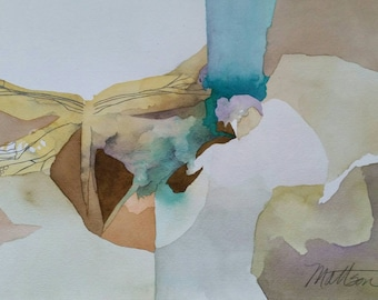"""Padre Island Series """" Dragonfly Kind of Day"""" original, one of a kind watercolor"""